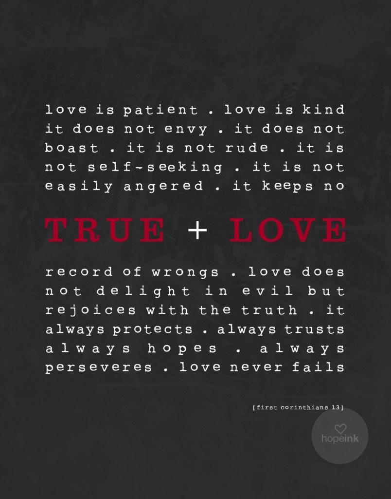 True Love Scripture Art