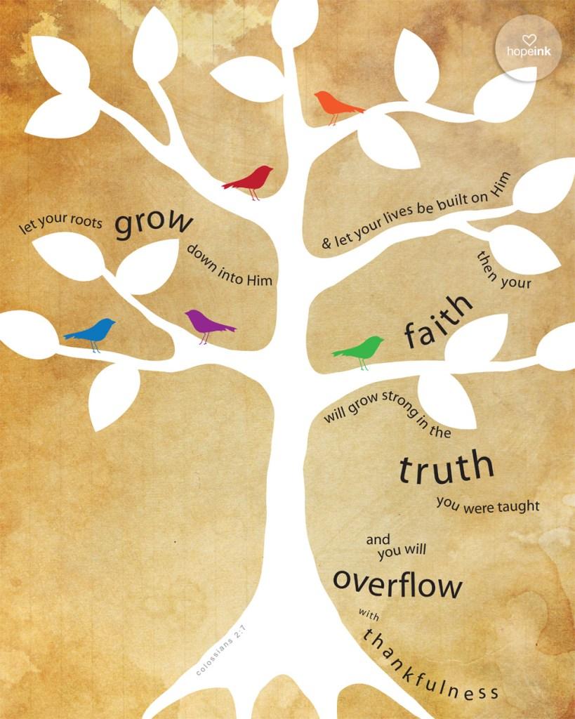 Family Scripture Tree Colossians 2