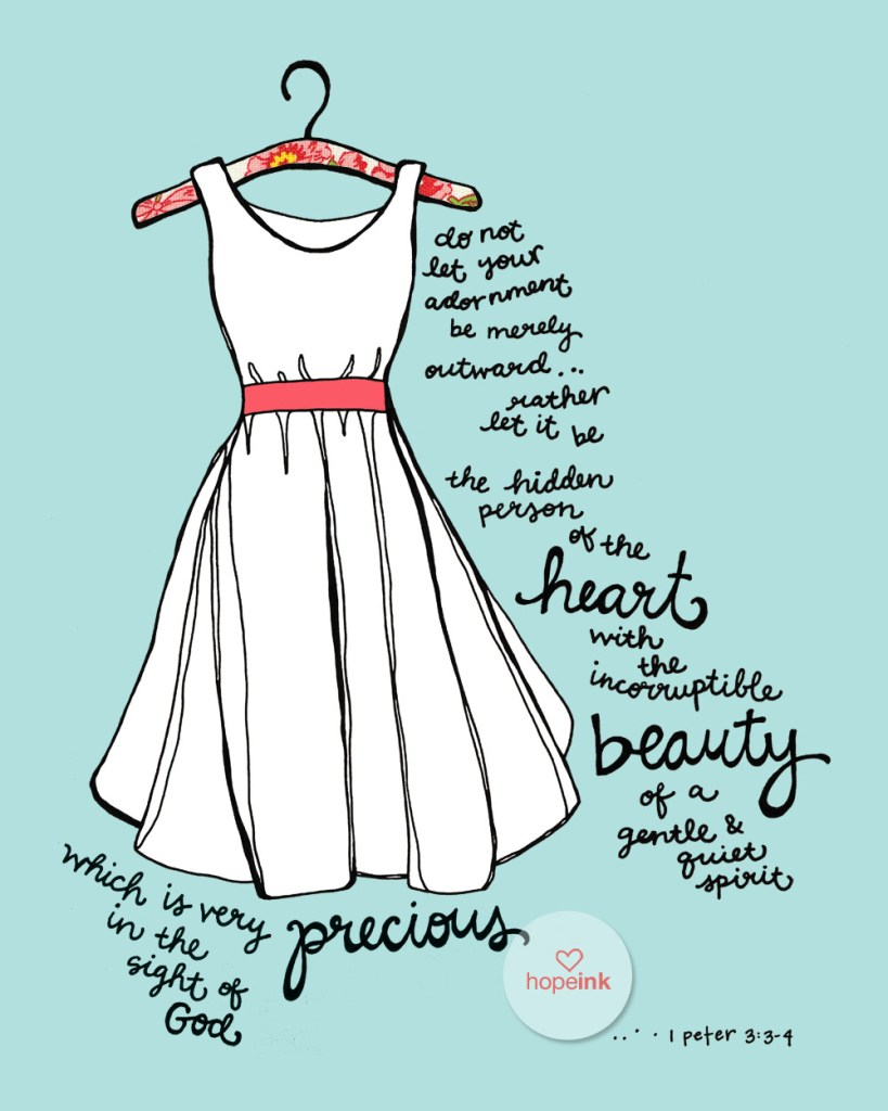 Scripture Illustration White Dress