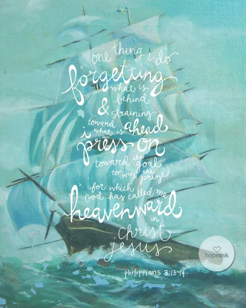 Ship Painting Scripture Art