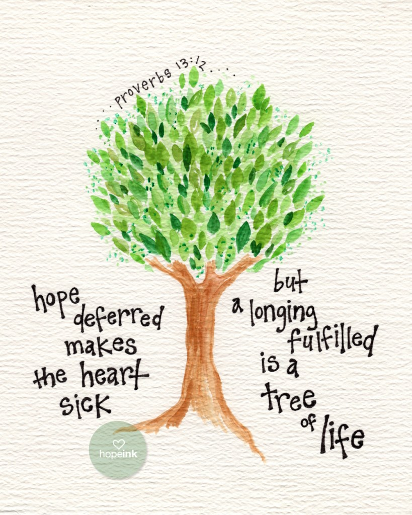 Tree of Life Scripture Art Hope Ink