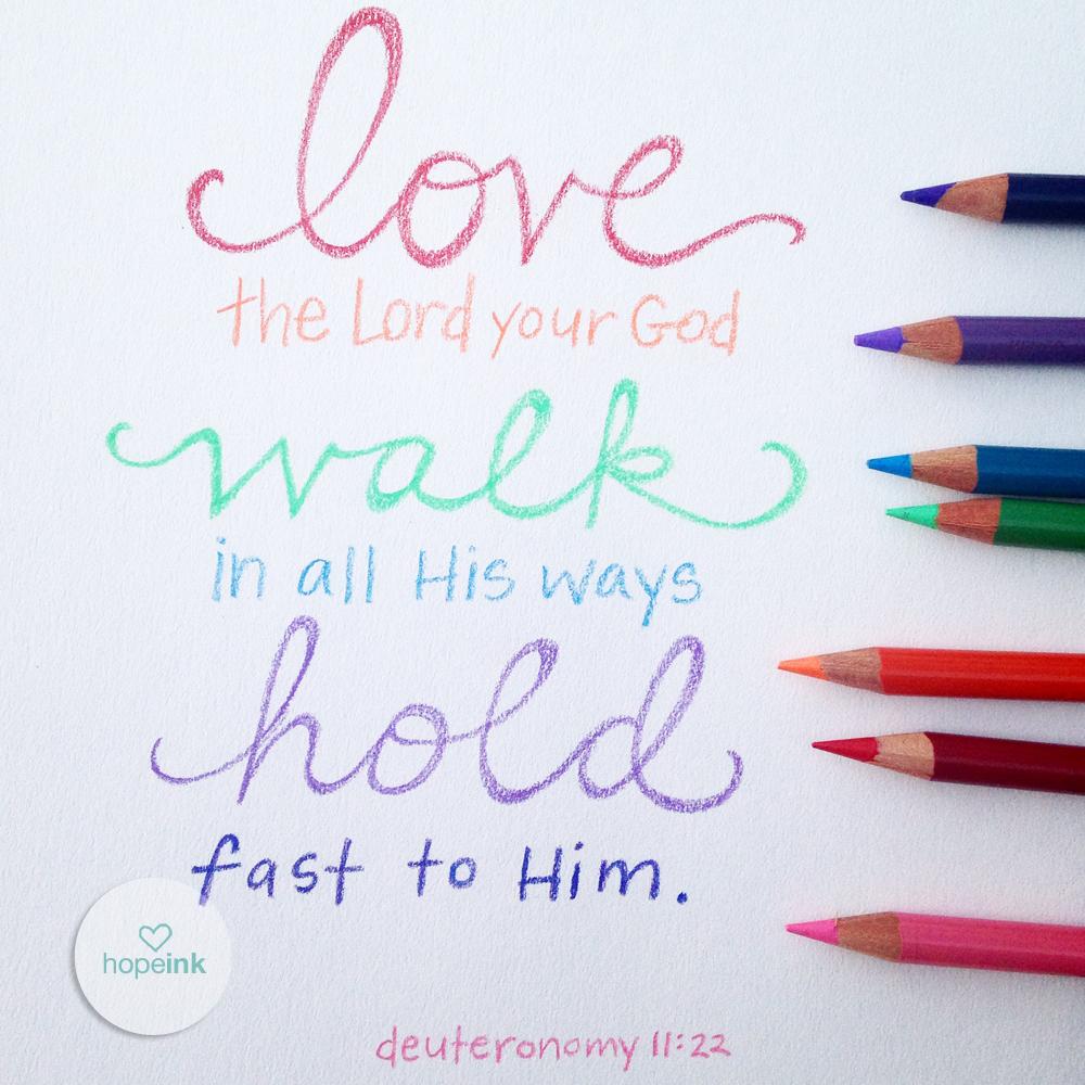 love walk hold fast