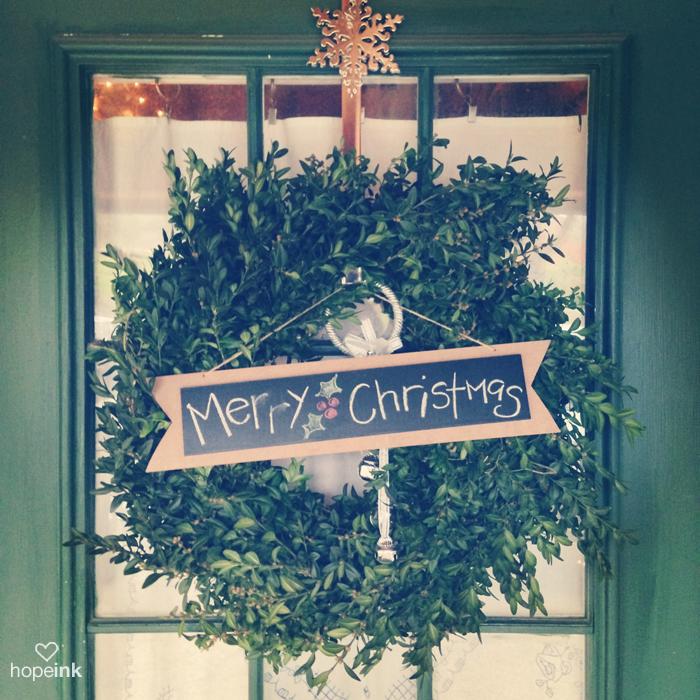 Merry Christmas Door Wreath