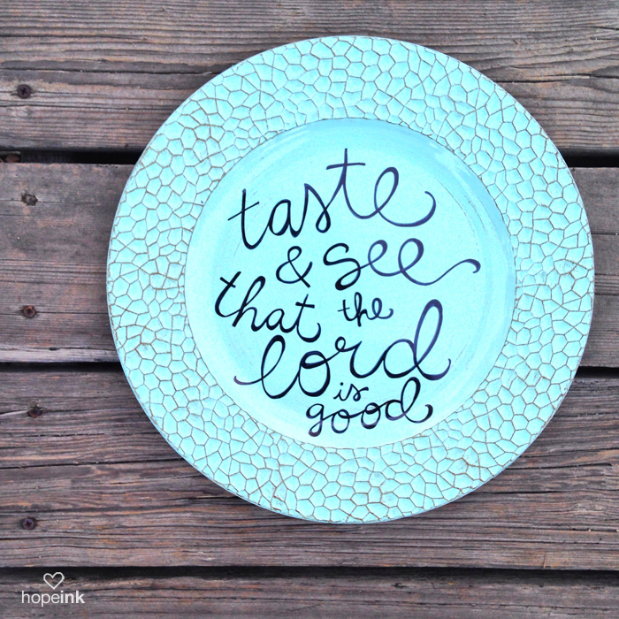 Scripture Art Plate Hope Ink