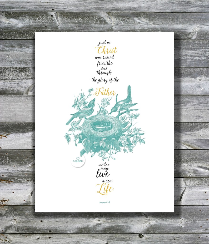 Free Easter Scripture Art Printable