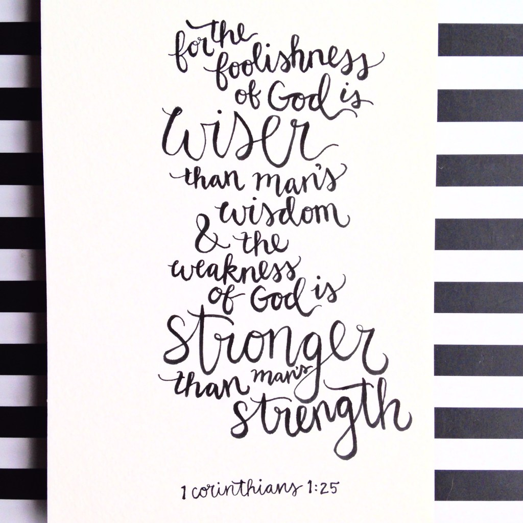 hand lettering scripture art wisdom