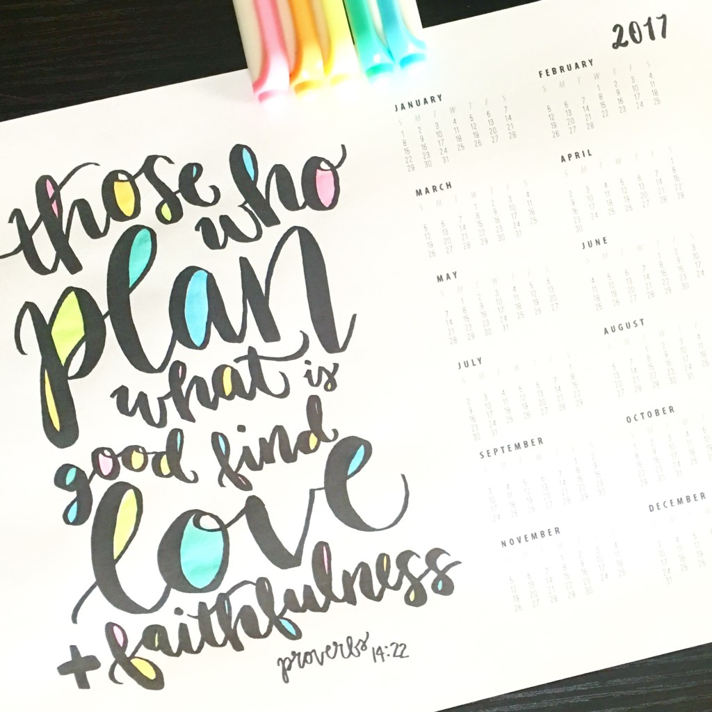 Free Printable Hand Lettered Calendar Hope Ink