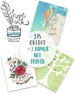 Hope Ink Credit Bonus Art Prints | Ultimate Homemaking Bundle