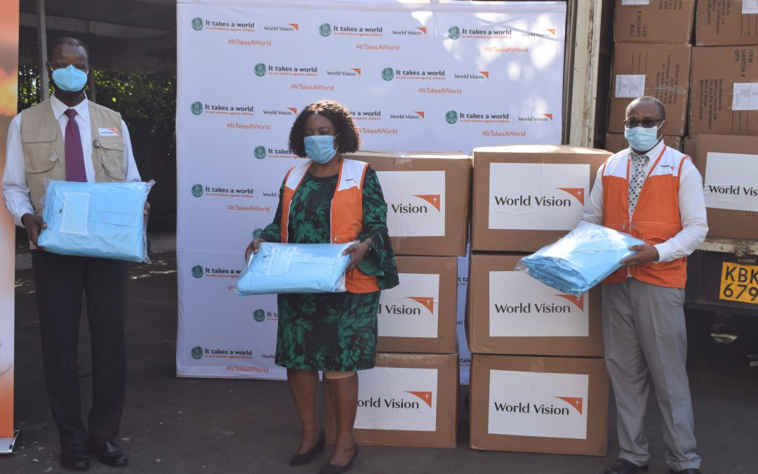 WORLD VISION KENYA DONATES MEDICAL ITEMS TO SUPPORT COVID-19 FIGHT