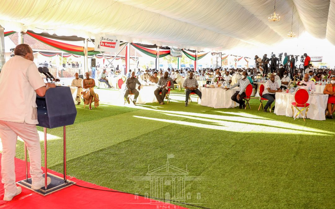 President Kenyatta hails the youth for developing local innovative solutions
