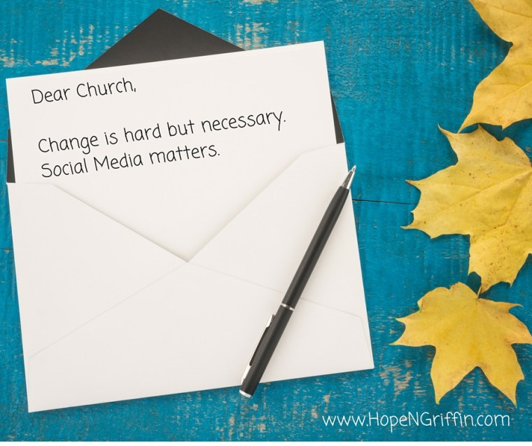 Why Social Media Matters. A letter to churches