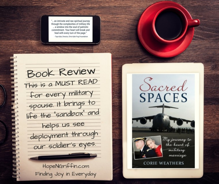Book Review of Sacred Spaces by Corie Weathers a journey to the heart of military marriages
