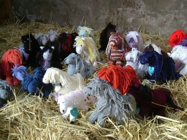 Knitted Horses