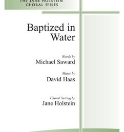 baptized in water 2 part mixed w opt flute cover image [ 885 x 1320 Pixel ]