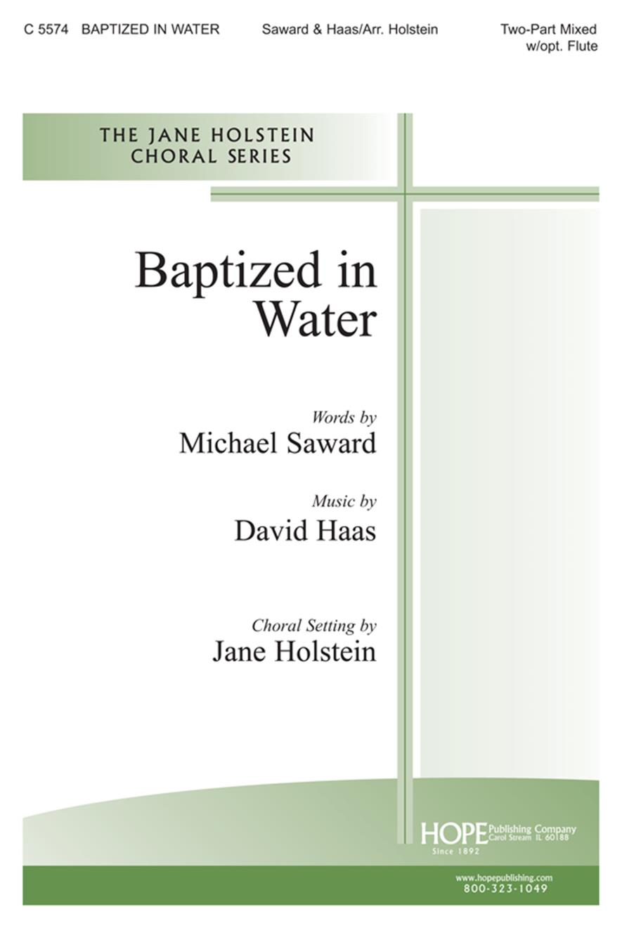 medium resolution of baptized in water 2 part mixed w opt flute cover image