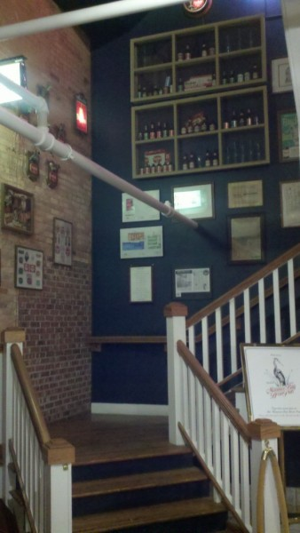 Stairs to the Maumee Bay Brewing brewpub