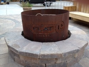 The fire ring at Flat12 Bierwerks
