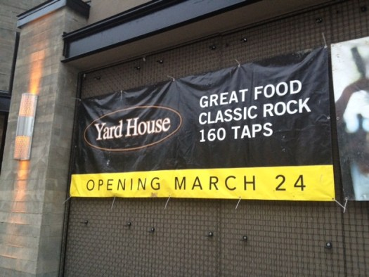 Yard House Opening Banner