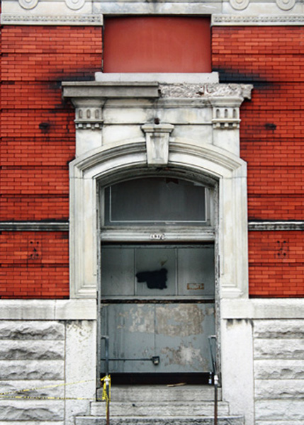 Door leading to the former Christian Moerlein Bottling Company which will be home to Rhinegeist, returning the building to its brewing heritage.