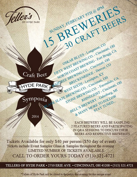 Tellers Craft Beer Symposia