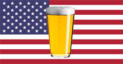 Fourth of July Beer American Flag