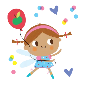 Fairy with balloon