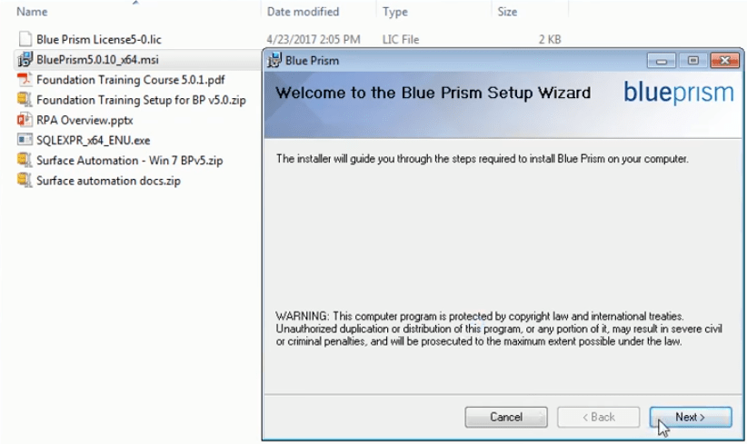 How to Download and Setup Blue Prism