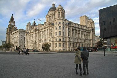IO Liver building - passers by