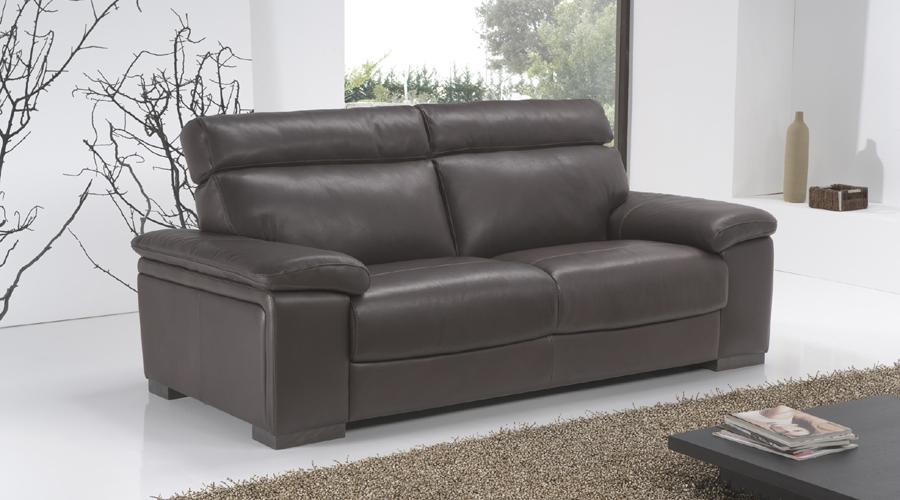 nicoletti lipari grey italian leather sofa chaise collect my for free uk | brokeasshome.com