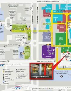 Johns hopkins hospital emergency entrance map also the rh hopkinsmedicine