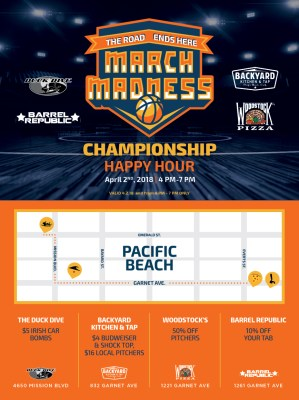 March Madness Championship Happy Hour