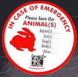 emergency decal