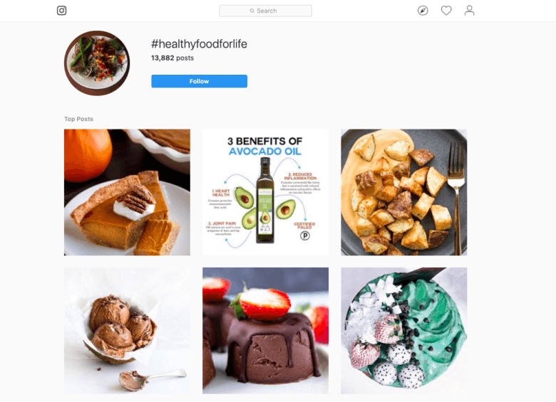 hashtags alimentaires
