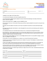 Critter Adoption Contract 2015