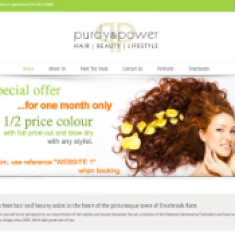 Website for hair and beauty business.