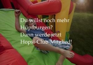 Bild Junge auf Hüpfburg