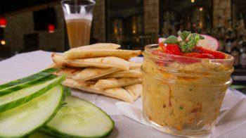 Hummus, Veggies, Naan