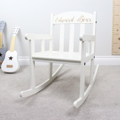 Engraved Rocking Chair Target Foldable Lawn Chairs Personalised White Hopwood Laser Design