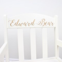 Engraved Rocking Chair Outdoor Directors Chairs Canvas Personalised White Hopwood Laser Design