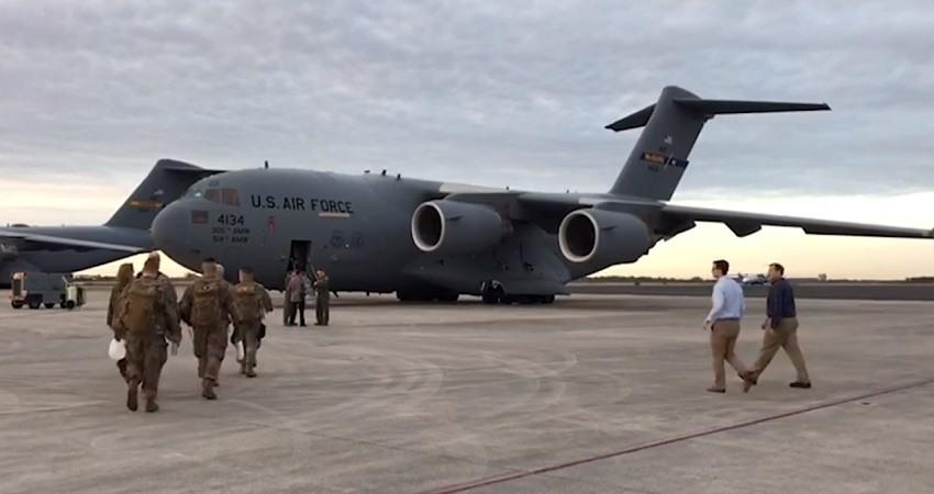 Militares de EEUU llegan con ayuda humanitaria a la frontera con Venezuela