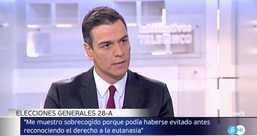 Pedro Sanchez sobre la eutanasia