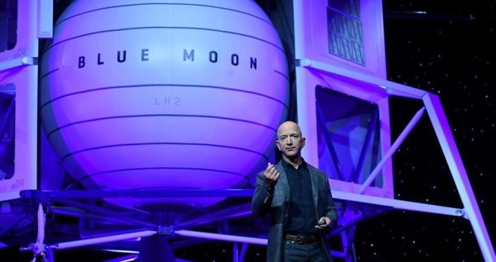 Jeff Bezos, dueño de Amazon, quiere volver a la Luna en 2024