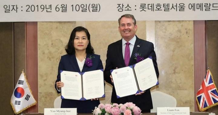 Reino Unido y Corea del Sur pactan un gran acuerdo de libre comercio post-Brexit