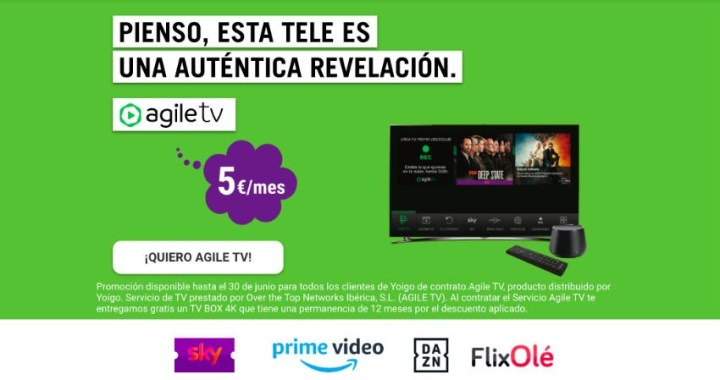 Agile TV: ¿cómo es la televisión de Yoigo? Precio y canales