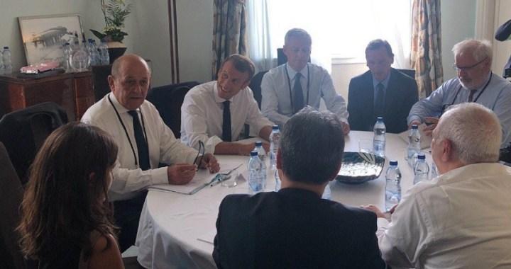Macron sorprende al G7 con la llegada inesperada del ministro iraní de Asuntos Exteriores