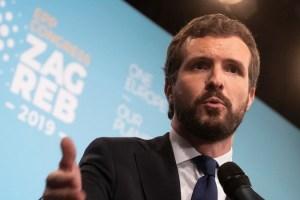 """Casado: """"El PP no facilitará la investidura al candidato del partido con el mayor escándalo de corrupción de la historia de España"""""""