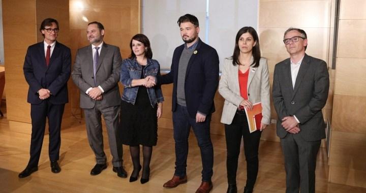 Comunicado conjunto de PSOE y PSC tras la reunión con ERC