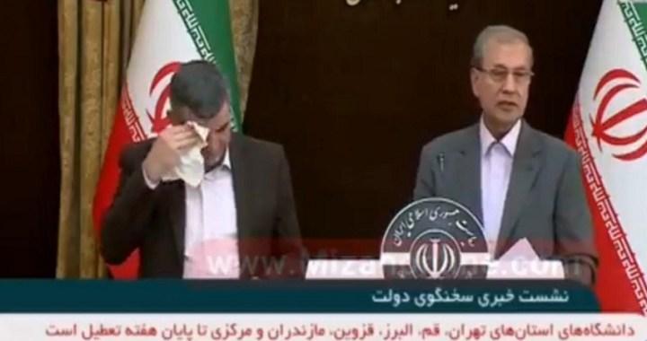 La comparecencia del viceministro de Salud de Irán revela al mundo los síntomas del coronavirus