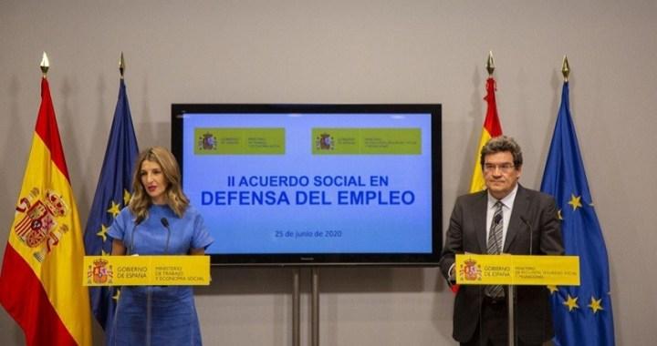 El Gobierno alcanza un acuerdo con los agentes sociales para prorrogar los ERTE hasta el 30 de septiembre