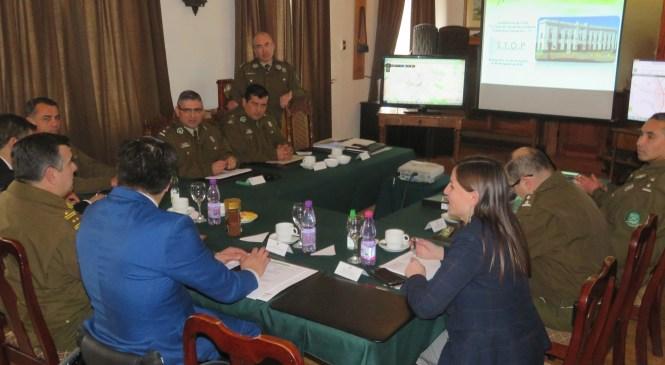 """Linares: Autoridades y Carabineros lideran sesión de Programa """"Sistema del Programa Operativo Policial (Stop)"""""""